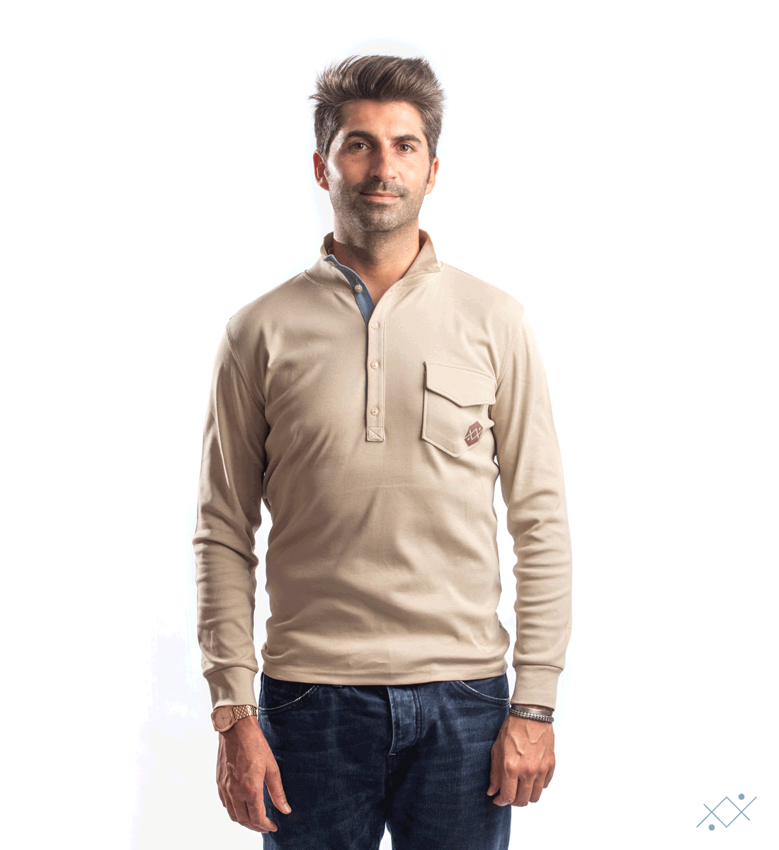 Men´s Long sleeve with chest opening 5 buttons - list