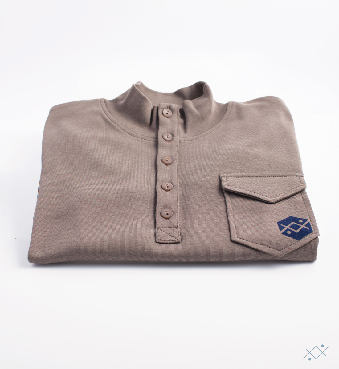Kid´s long sleeve with 5 buttons and placket in light blue velvet - view2